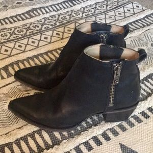 Black Sacha Moto Shortie Ankle Boot 8.5